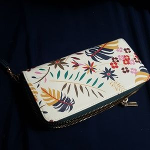 A new day Floral wristlet